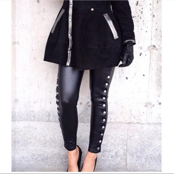 b154a37a376a1 Romeo & Juliet Couture Pants | Romeo Juliet Biker Faux Leather Size ...